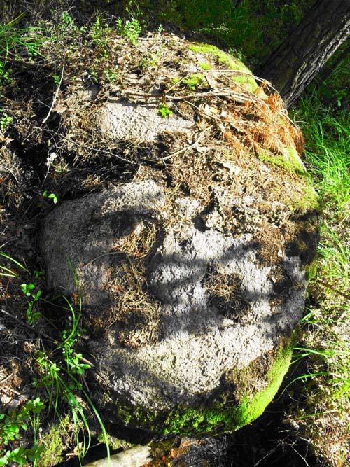 Урочище Трьох Хрестів. «Кам'яна голова». Рокитнівський район, біля села Дерть